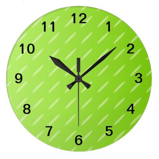 Diseño modelado verde lima brillante del fondo reloj
