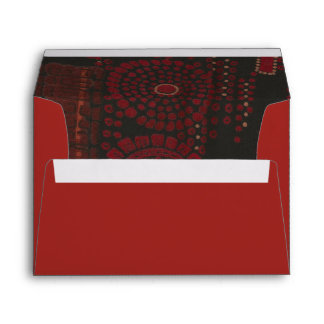Diseño modernista negro y rojo sobres