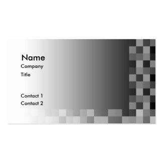Diseño moderno abstracto blanco y negro tarjetas de visita