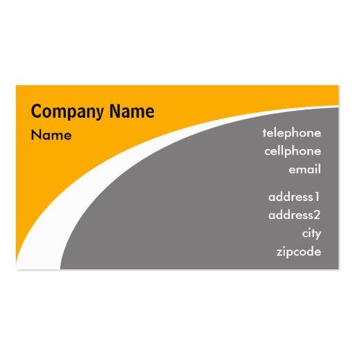Diseño moderno anaranjado de la tarjeta de visita