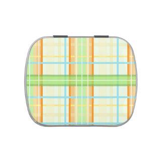 Diseño moderno anaranjado y verde de la tela escoc jarrones de caramelos