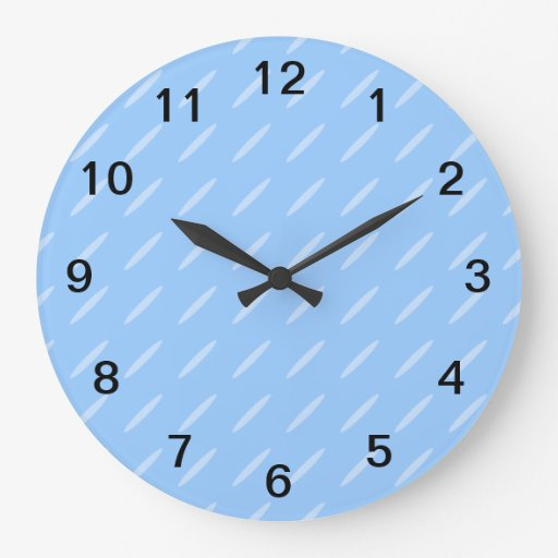 Diseño moderno azul claro del modelo del fondo reloj de pared