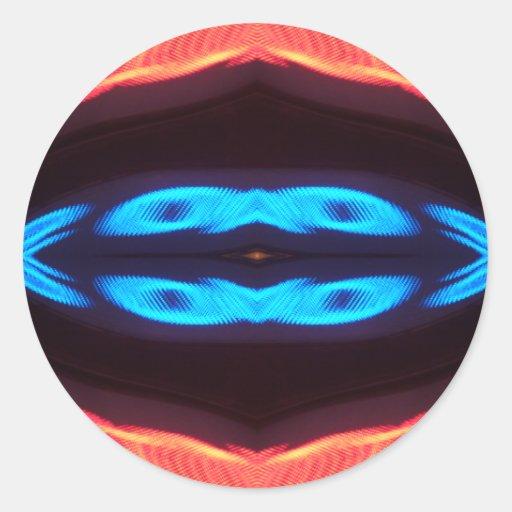 Diseño moderno colorido inusual interesante pegatina redonda