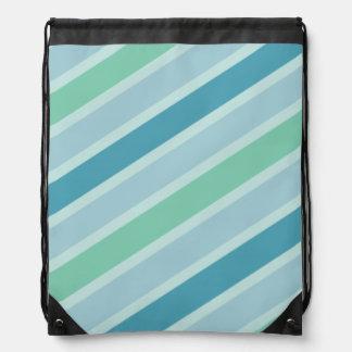 Diseño moderno de Patttern de las rayas verdes y a Mochila