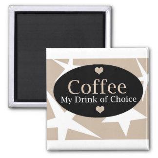 Diseño moderno del café imán de frigorífico