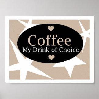 Diseño moderno del café posters