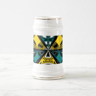 Diseño moderno del círculo del amarillo y del trul taza de café