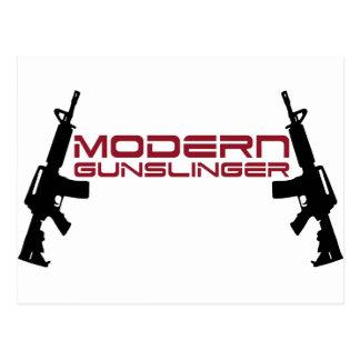 Diseño moderno del Gunslinger por la tinta del Postales
