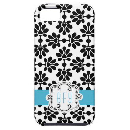 Diseño moderno enrrollado con el azul iPhone 5 fundas