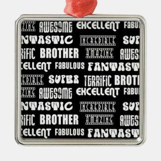 Diseño moderno fresco para los hermanos: Palabras  Ornamento De Navidad