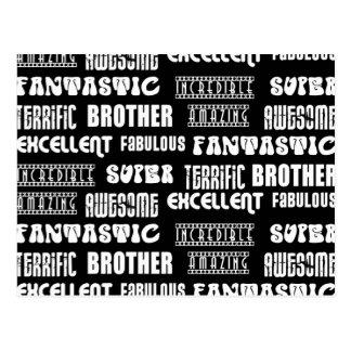 Diseño moderno fresco para los hermanos: Palabras Tarjetas Postales