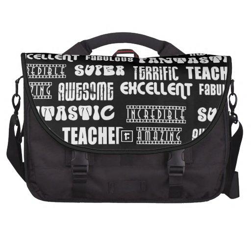 Diseño moderno fresco para los profesores: Palabra Bolsas De Ordenador