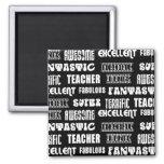 Diseño moderno fresco para los profesores: Palabra Imán De Frigorifico