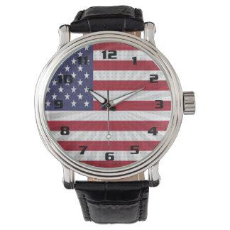 Diseño moderno muy patriótico de la bandera relojes