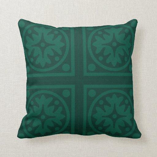 Diseño monocromático de la almohada del verde esme