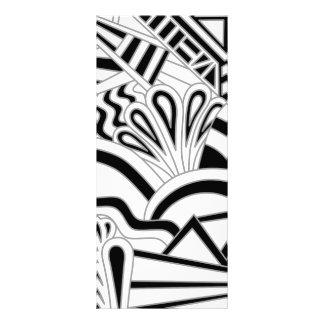 Diseño monocromático del art déco lona personalizada