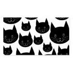 Diseño monocromático del gato plantillas de tarjetas personales