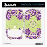 Diseño-Monograma floral del vintage suavemente ver BlackBerry Curve 3G Skins