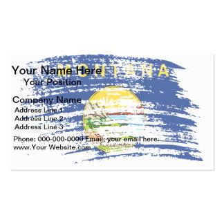 Diseño montanense fresco de la bandera plantillas de tarjeta de negocio