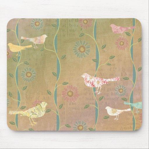 Diseño Mousepad de los pájaros del amor de la prim