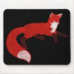 Diseño Mousepad del vintage del Fox Tapetes De Ratón