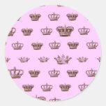 Diseño multi de la corona - elija el color del etiquetas redondas