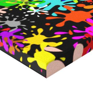 Diseño multi del papel pintado de la salpicadura d lona envuelta para galerias