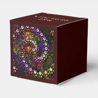 Diseño multi-floral abstracto hermoso cajas para detalles de boda