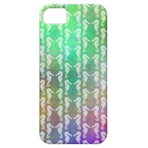 Diseño multicolor bonito del modelo del Seahorse iPhone 5 Case-Mate Protectores