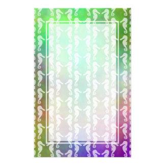 Diseño multicolor bonito del modelo del Seahorse Papelería Personalizada