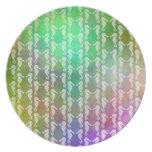Diseño multicolor bonito del modelo del Seahorse Plato Para Fiesta