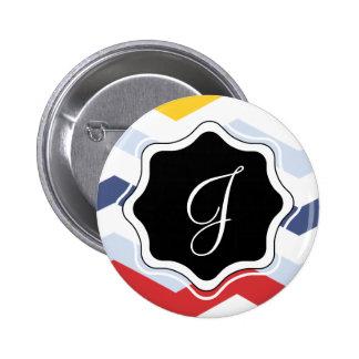 Diseño multicolor de Chevron Pin Redondo De 2 Pulgadas