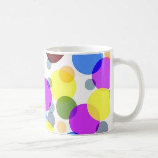 Diseño multicolor de los lunares taza