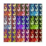 Diseño multicolor del arte de Digitaces de los cua