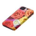 Diseño multicolor del modelo de los rosas Case-Mate iPhone 4 fundas