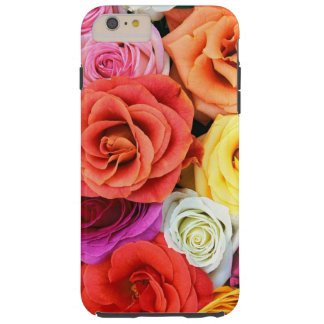 Diseño multicolor del modelo de los rosas funda para iPhone 6 plus tough