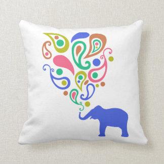 Diseño multicolor del modelo del elefante de Paisl Cojines