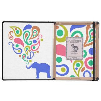 Diseño multicolor del modelo del elefante de Paisl iPad Cárcasa