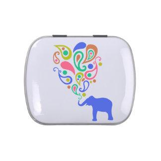 Diseño multicolor del modelo del elefante de Paisl Jarrones De Caramelos