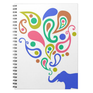 Diseño multicolor del modelo del elefante de Paisl Libretas