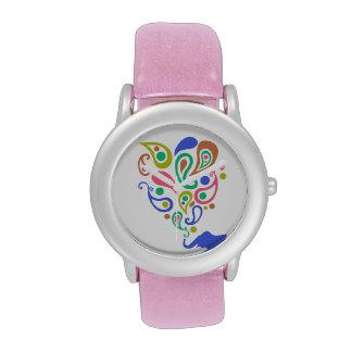 Diseño multicolor del modelo del elefante de Paisl Relojes De Mano