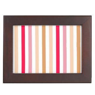 Diseño multicolor elegante del modelo de las rayas cajas de recuerdos