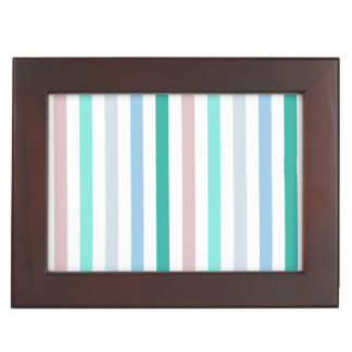 Diseño multicolor elegante del modelo de las rayas caja de recuerdos