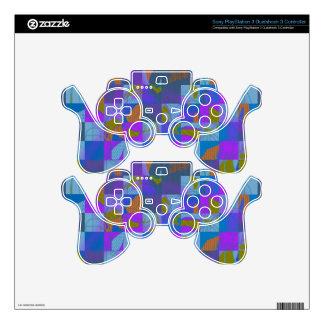 Diseño multicolor en piel del regulador de mando PS3 skin