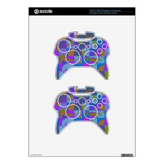 Diseño multicolor en piel del regulador de Xbox Mando Xbox 360 Calcomanía