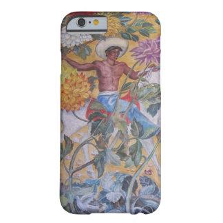 Diseño mural indio mexicano funda de iPhone 6 barely there