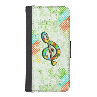 Diseño musical artístico en la caja de la cartera funda billetera para teléfono