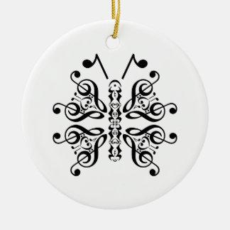 Diseño musical de la voluta de la nota de la músic ornamentos de reyes