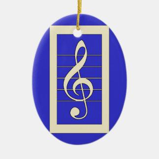 Diseño musical del símbolo del Clef agudo Adornos