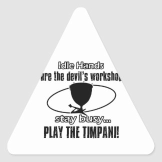Diseño musical del Timpani Pegatina Triangular